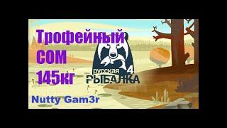 Русская Рыбалка 4-Ахтуба ТРОФЕЙНЫЙ СОМ 145кг