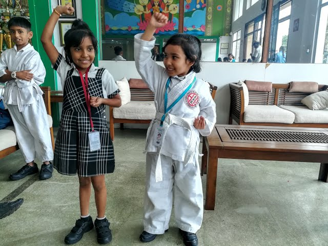 Kids Masti After Karate class at new horizon Gurukul/ Learn With Pari