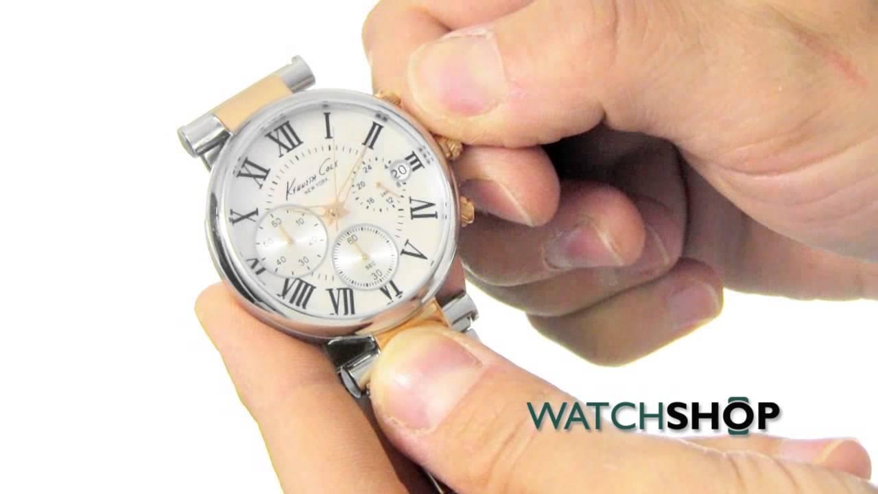 252abfd3dd5 Kenneth Cole Ladies  Kiskaya Chronograph Watch (KC4970) - YouTube