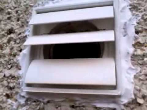 kitchen exhaust fan diy pull out shelves how to fix vent flapping about in wind? - youtube