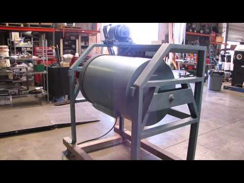 *SOLD* Western Machinery Industrial Drum Tumbler 9.4 Cubic Feet 220V 3Phase