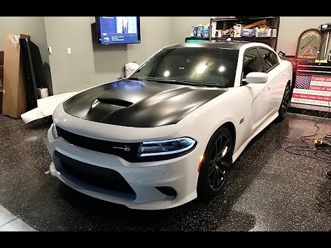 Wrapping Hood And Roof On 2017 Charger Scatpack Youtube