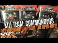 Kill Team: Commanders - My Information from the open day