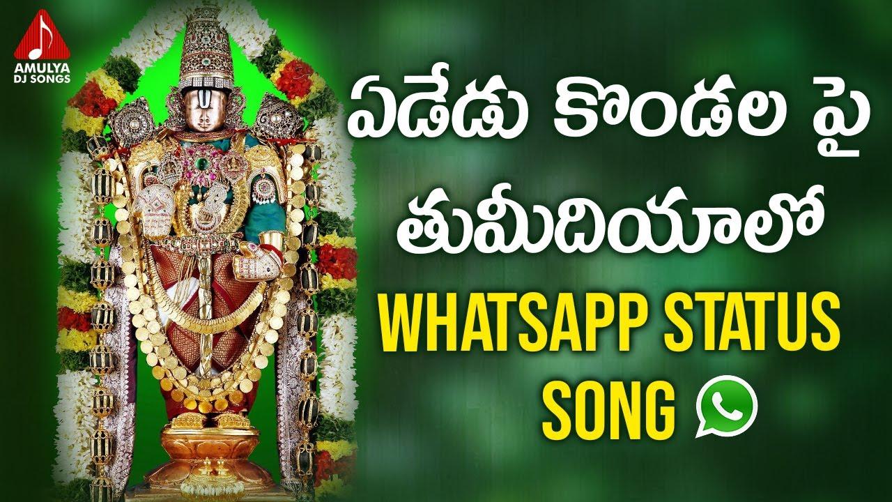 Venkateswara Swamy Devotional Songs | Yededu Kondala Pai Thumadiyalo Whatsapp Status Song | Amulya