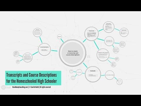 Transcripts and Course Descriptions for Homeschooled High Schoolers