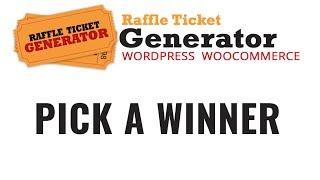 Raffle Ticket Generator v3 Pick a Winner option