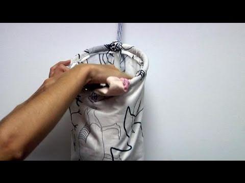 C mo confeccionar una bolsa para la ropa sucia youtube for Ideas para disenar ropa