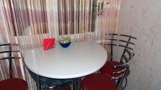 видео Кухонный стол для маленькой кухни 6 кв м