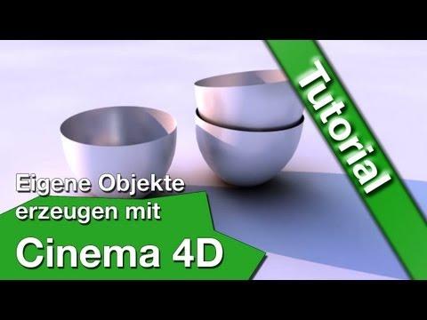 Cinema 4D Tutorial Schale erstellen/eigene Objekte erzeugen