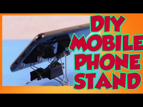 HOW TO MAKE A DIY MOBILE PHONE STAND FROM STEEL CLIPS