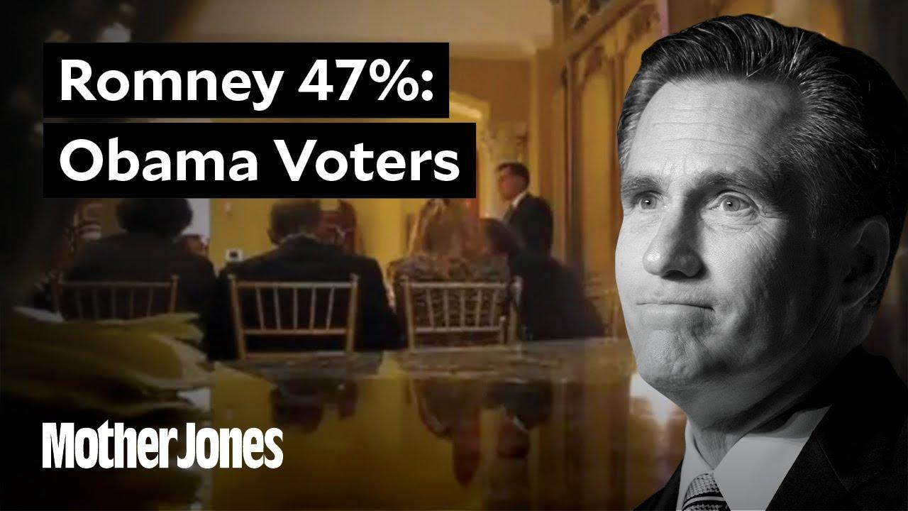 Mitt Romney on Obama Voters