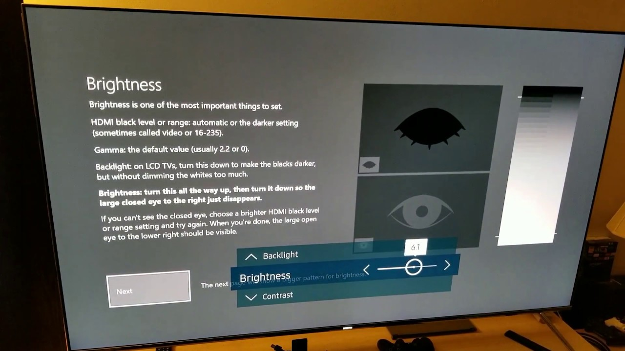 XBOX ONE : Calibration Built in Software - Calibrating Samsung KS-8000 4K TV