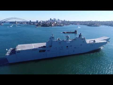 HMAS Adelaide and Canberra head out to sea