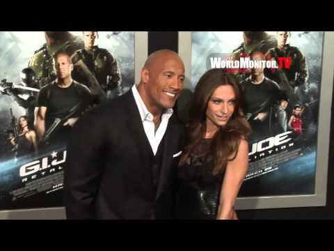 Dwayne The Rock Johnson arrives at  'G.I. Joe: Retaliation' Los Angeles premiere