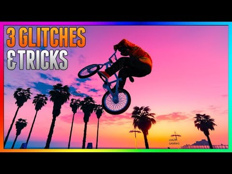 GTA 5 Online - 3 NEW GLITCHES & TRICKS (BMX Launch Glitch, Funny Glitch & Secret Wallbreach)