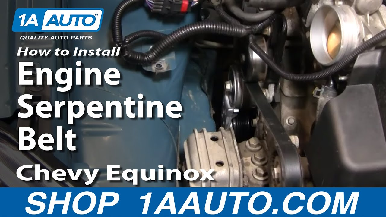 hight resolution of how to replace serpentine belt 05 09 chevy equinox
