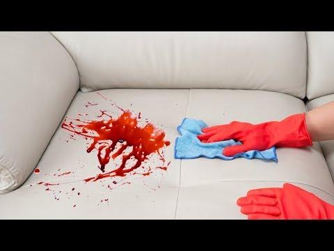 Как отмыть пятно крови с дивана