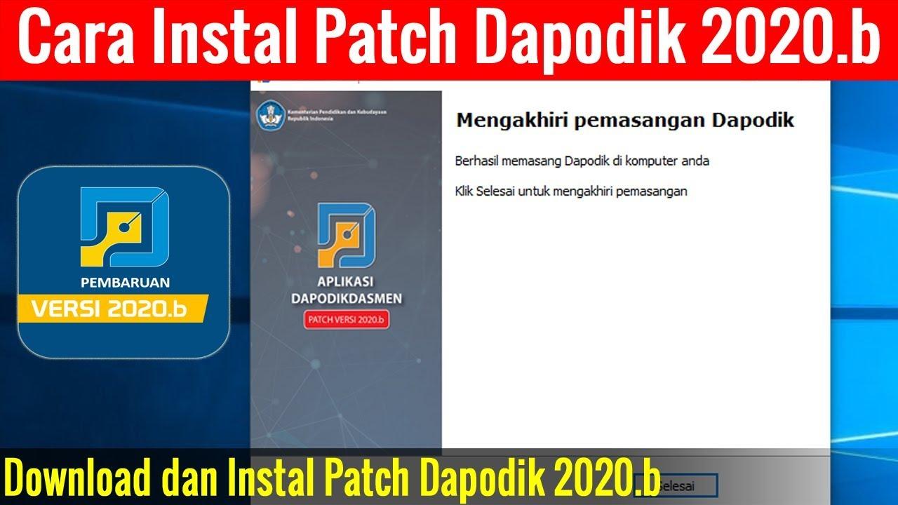 Video Tutorial Cara Instal Patch Dapodik 2020 B Youtube