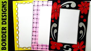Black Border designs on paper border designs project work designs borders for projects