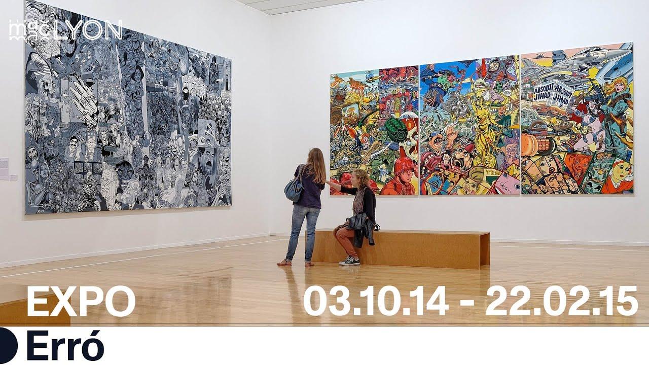 Exposition Erró au Musée d'art contemporain de Lyon - YouTube