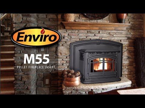 M55 Cast Iron Pellet Fireplace Insert Burn Example