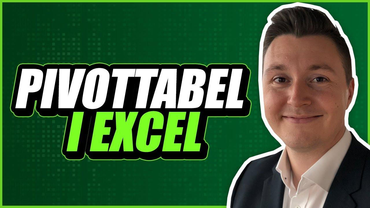 Sådan bruger du en pivottabel i Excel