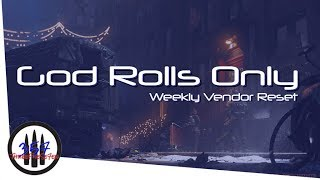 THE DIVISION - GOOD VENDOR RESET | GOD ROLL WEAPONS, GEAR