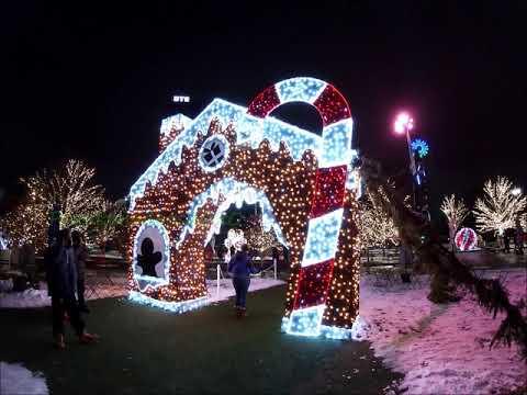 Detroit's Beacon Park Holiday Light Show 2020
