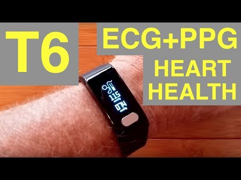 T6 ECG+PPG Blood Pressure Fitness/Health Smartband: Unboxing & Review