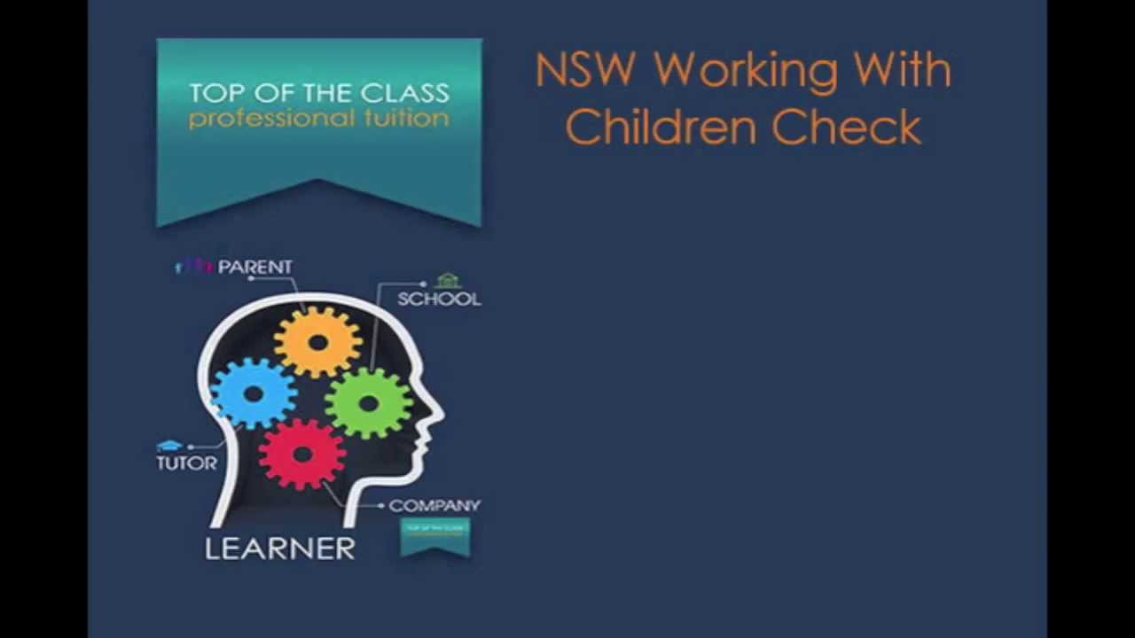 NSW Working With Children Check - YouTube