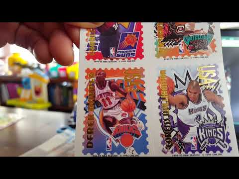 90's NBA Pro Stamps 1994-1995. Opening sealed package to see what's inside!