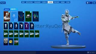 Fortnite Rogue SPider Knight showcased with *NEW* *LEAKED* Emotes