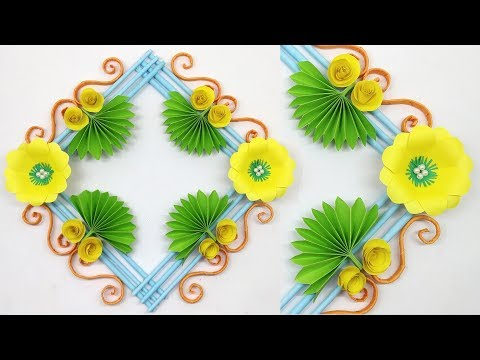 Diy Simple Room Decoration Wall Decoration Idea Paper Flower Wall Hanging Christmas Ornaments Youtube