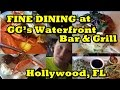 Fine Dining at GG's Waterfront Bar and Grill, Hollywood Florida
