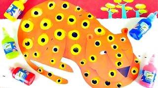 Пальчиковые краски Джеко Djeco - Учимся рисовать леопарда. Развивалки для детей(Пальчиковые краски для детей от компании Джеко (Djeco) - это отличный развивающий набор для раннего детского..., 2015-09-19T05:30:00.000Z)