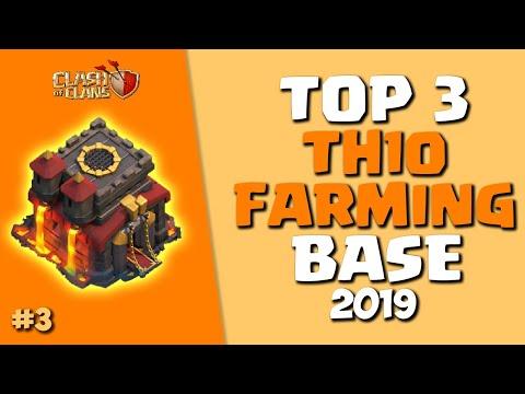 TOP 3 BEST TH10 FARMING BASE 2019 *COPY LINK* | COC TH10 Farming/Trophy Base | Clash Of Clans #3