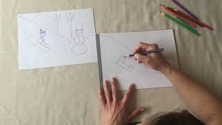 Drawing with Lisa Sadler, JMCC OT: Let's Draw a Silly Sledding Picture!