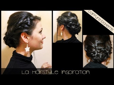 coiffure tresses en chignon pour la saint valentin l a hairstyle inspiration youtube. Black Bedroom Furniture Sets. Home Design Ideas
