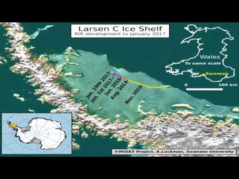 A Crack in an Antarctic Ice Shelf Grew 17 Miles in the Last Two Months beast for 2017