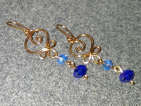 beads earrings wire img village hammered product