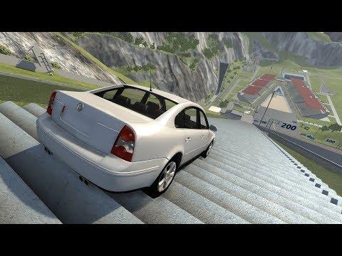 DESCENDO A ESCADARIA COM UM VOLKSWAGEN PASSAT!BeamNG.drive