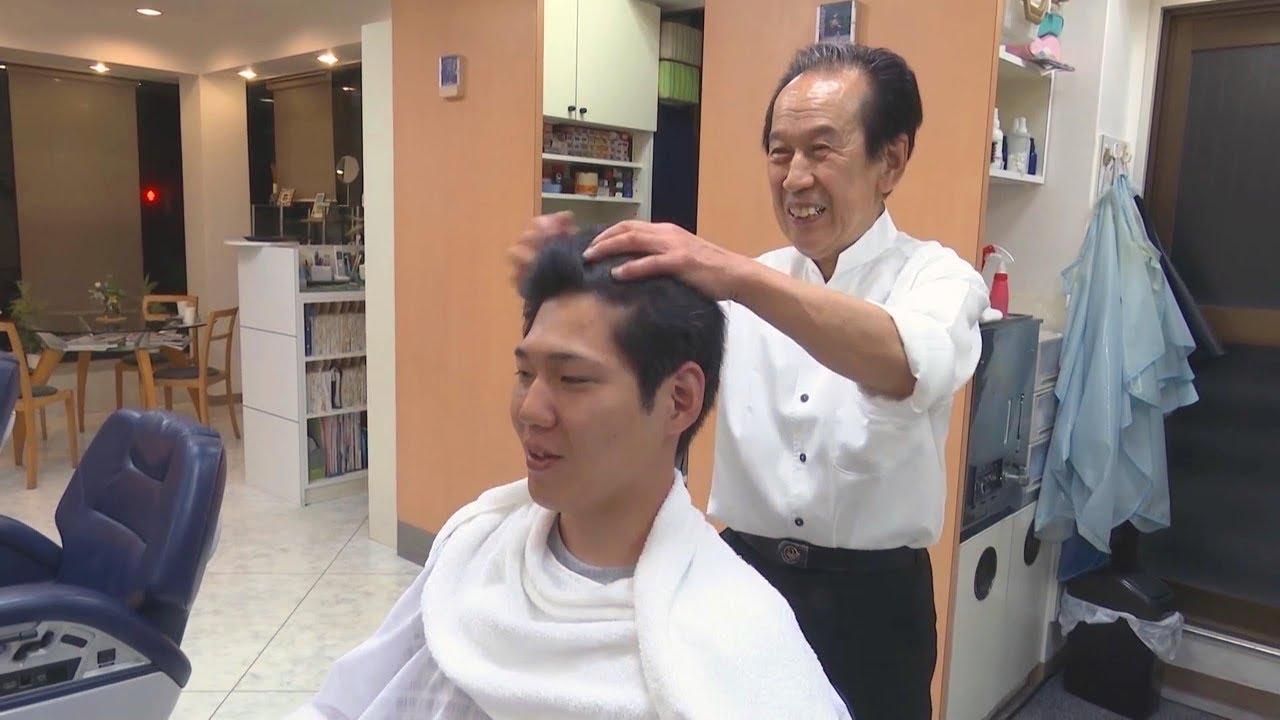 Unintentional Asmr Head Hair Massage By Elderly Japanese Barber