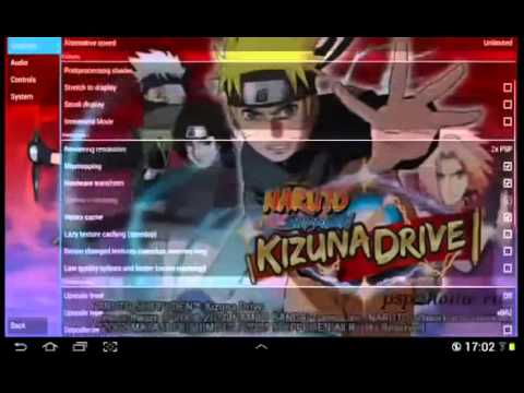 Psp android) naruto shippuden: kizuna drive | ppsspp android.