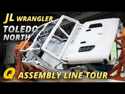 Jeep Wrangler JL Toledo North Assembly Line Tour - Where all JL Wranglers Begin