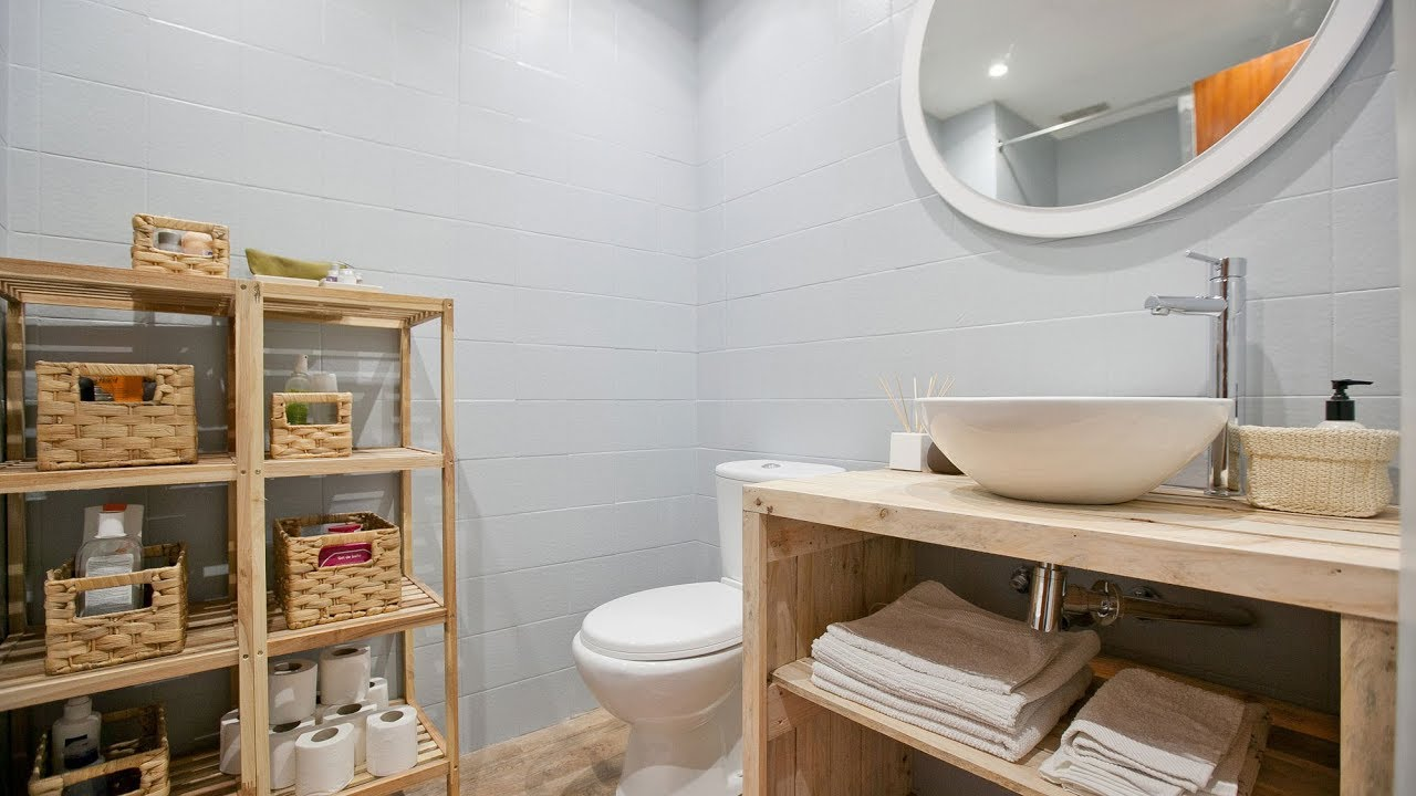 Programa completo decorar ba o peque o de estilo r stico for Como remodelar un bano muy pequeno