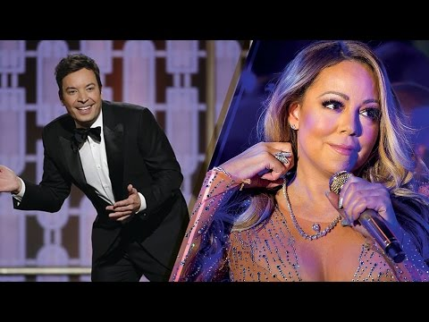 Thumbnail: Shade Alert! Jimmy Fallon SLAMS Mariah Carey at 2017 Golden Globes Over New Year's Eve Performance