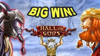 Unexpected BIG WIN on Hall of Gods Slot - £2 Bet(Join me at Casumo and get 200 free spins! @ http://nickslots.com/yt/casumo A nice base game hit on Hall of Gods!, 2017-01-30T17:11:53.000Z)