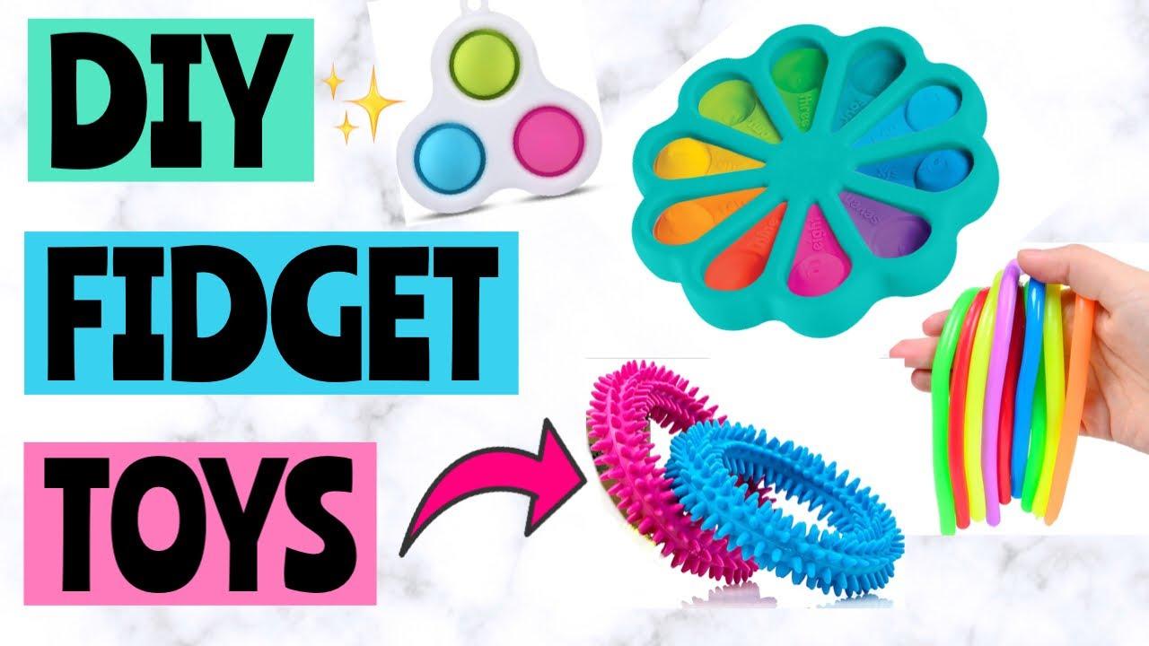 Download DIY FIDGET TOYS! Dimple Fidget, Pop It Fidgets   How to make fidget toys! EASY! Viral TikTok Fidgets