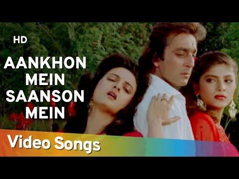 Aankhon Mein Saanson Mein (HD)   Insaaf Apne Lahoo Se (1994)   Sanjay Dutt   Sonam   Farha