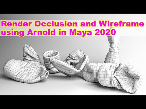 Render Occlusion And Wireframe Using Arnold In Maya 2020